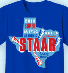 STAAR T Shirts - STAAR State Words - cool-966s1
