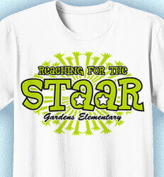 STAAR T Shirts - Reaching For the STAAR - cool-967r1
