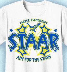 STAAR T Shirts for Teachers - Funky Stars - clas-382j1