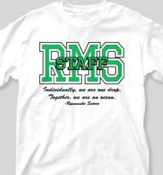 Custom School Staff Shirt Design Ideas - IZA Design
