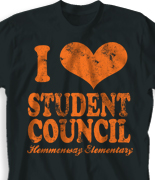 Student Council Shirt - I Heart Vintage desn-149j2