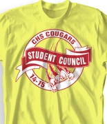 Student Council Shirt Design - Student Club desn-935s1