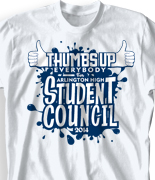 Student Council Shirt Design - Thumbs Up desn-918t1