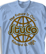 Student Council Shirt Design - United Globe clas-665u2