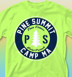 Summer Camp Shirt Designs - Pine Summit desn-654p1