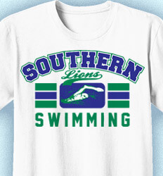 Swim Team Shirt Ideas - Swimming Stripes - cool-921s1
