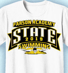 Swim Team Shirt Ideas - Banner State Swimming - cool-935b1