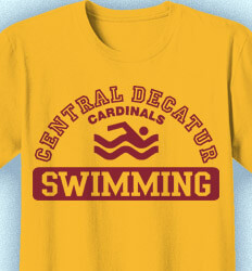 Swimming T Shirt Designs - Aloha Athletics - clas-831e9