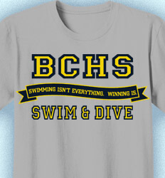 Swimming T-Shirt Designs - Jersey Banner - clas-823l2