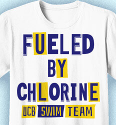 Swiming T-Shirt Designs - Fueled By Chlorine - idea-148f1