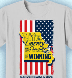 Swimming T-Shirt Designs - State Flag - cool-241s4