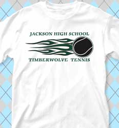 Tennis Shirt Designs -  Fireband clas-21fb1