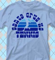 Tennis Shirt Designs Sunset Sounds desn-660u3