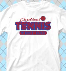 Tennis Shirt Designs - Club Net Letters cool-435c1