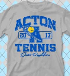 Tennis Shirt Designs - cool-438v1 Varsity League