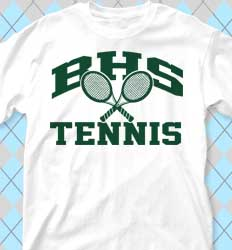 Tennis Shirt Designs - cool-437o1 Old School Tennis