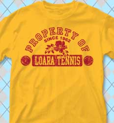 Tennis Shirt Designs - Aloha Athletics clas-831a2