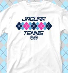 Tennis Shirt Designs - New Argyle Print cool-440n1