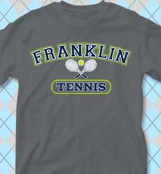 Tennis Shirt Designs - Tennis Athletic cool-434t1