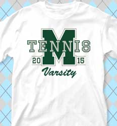 Tennis Shirt Designs - Big Letter desn-351i9