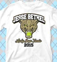 Tennis Shirt Designs - Jaguar Tennis cool-137j1