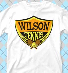 Tennis Shirt Designs - Tnnis Badge cool-442t1