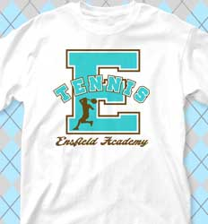 Tennis Shirt Designs - Collegiate Mascot desn-794c4