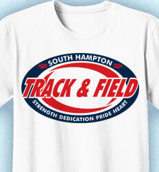 Track and Field Shirt Designs - Track Swirl - idea-185t1