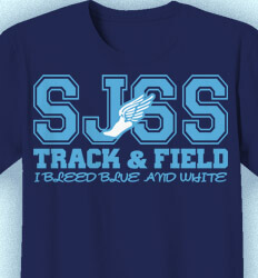 Track and Field Shirt Designs - Classic Leader - desn-343d6