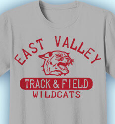 Track and Field Shirt Designs - Old School Track - desn-341o1