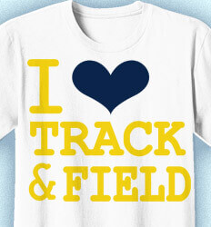 Track and Field Shirt Designs - I Heart - desn-148h3