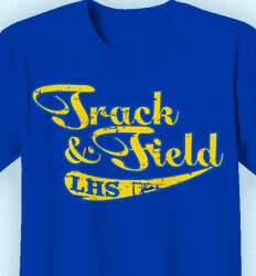 Track and Field Shirt Designs - Retro Script - clas-534b2