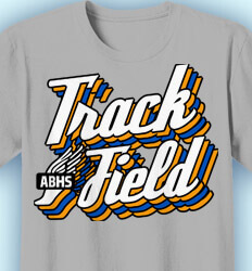 Track and Field T-shirts - Retro Track Style - idea-177r1