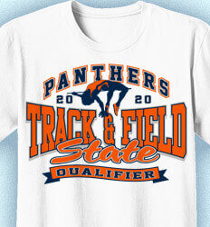 Track and Field T-shirts -Track State Qualifier - idea-176t1