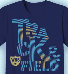 Track and Field T-shirts - Radiating - desn-37r1