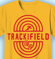 Track and Field T-shirts - Track Oval Emblem - idea-179t1