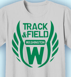 Track and Field T-shirts - Wings Insignia - idea-174w1