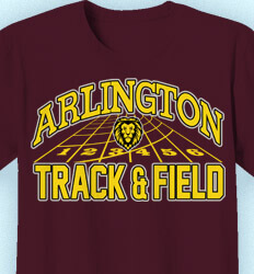 Track and Field T-shirts - Track Markings Logo - idea-175t1