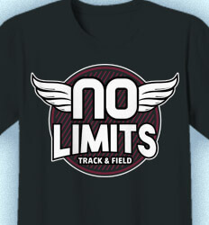 Track and Field T-shirts - No Limits Track - idea-173n1