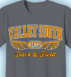 Track and Field T-shirts - Collegiate Wings - idea-178c1