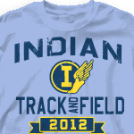 Track Team Shirt - Mascot Phys Ed-829m9
