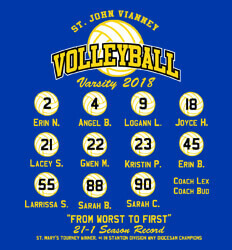 Volleyball Roster Designs - Players List - desn-629p9