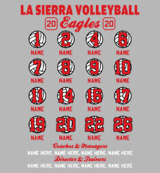 Volleyball Roster Designs - Ultra Ball Roster - idea-223u1