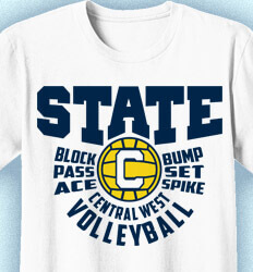 Volleyball T-Shirt Designs - Our State-Ment - idea-214o1