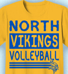 Volleyball T-Shirt Designs - Volleyball Stack Letters - idea-198v1