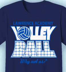 Volleyball T-shirts - Volleyball Net Letters - idea-206v1