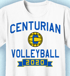 Volleyball T-shirts - Mascot Phys Ed - clas-829q5