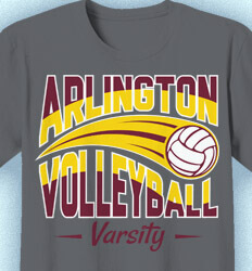 Volleyball T-shirts - Swoosh Volleyball - idea-232s1