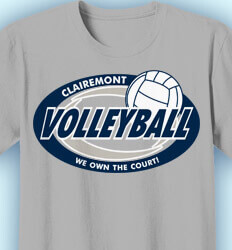 Volleyball T-shirts - Volleyball Swirl - idea-209v1