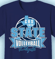 Volleyball Team Shirts - Huge State Volleyball - idea-228h1